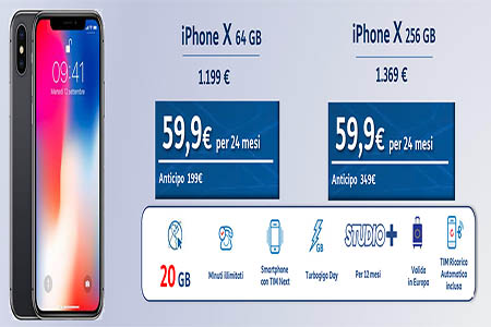 Tim Next e Tim Next Unlimited con iPhone X