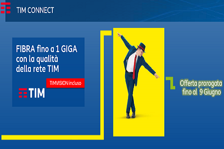 Tim Connect Fibra fino a 1 Giga